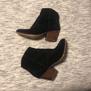 Barely worn black booties